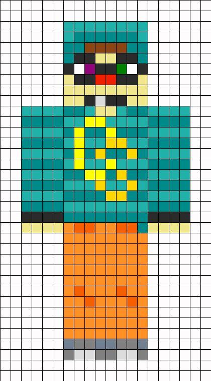 minecraft chimneyswift11 skin perler bead pattern