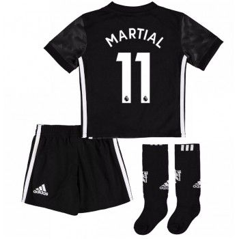 Manchester United Anthony Martial 11 kläder Barn 17-18 Bortatröja Kortärmad  #Billiga #fotbollströjor