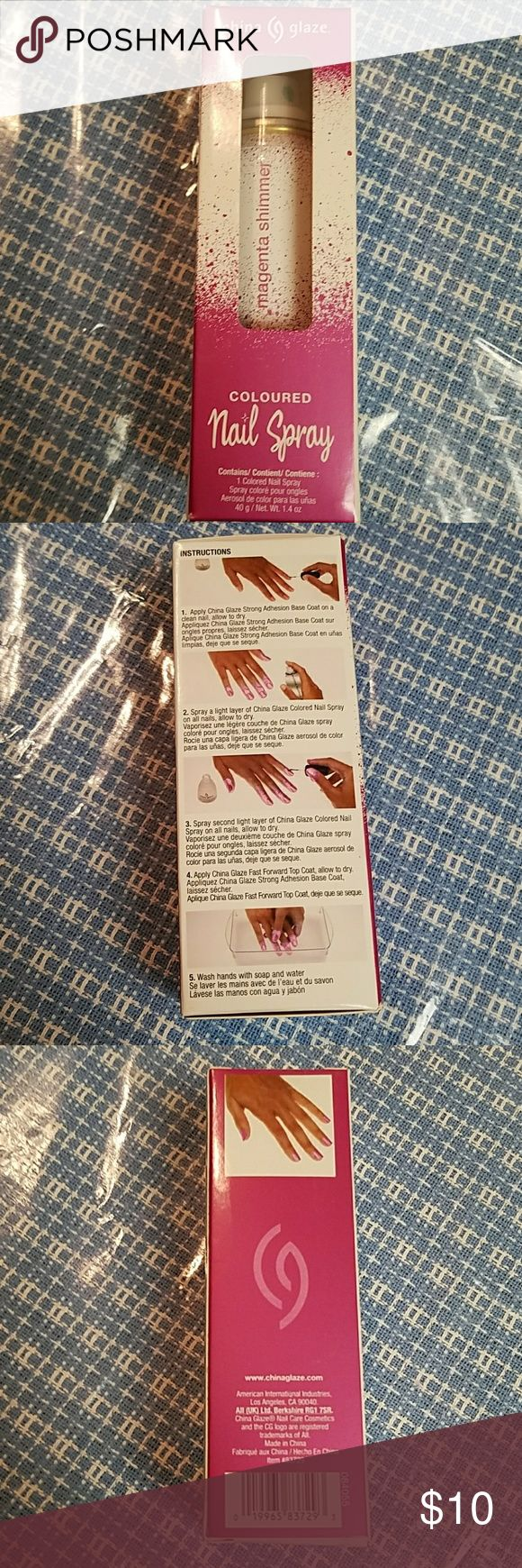 Spray on nail polish china glaze nail spray reviews - Darker Pink Spray On Nail Polish Spray On Nail Polish New Never Taken Out Of The