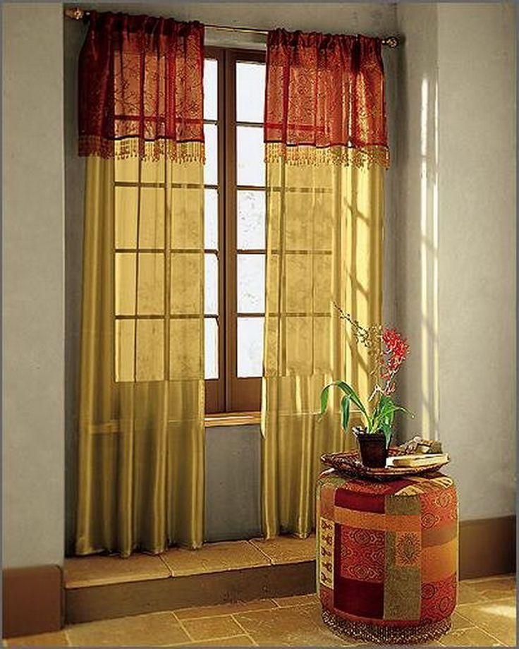 Two Tone Long Curtains Hmm