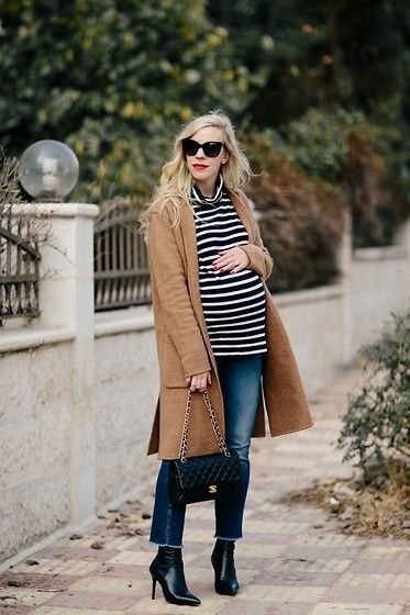 Get this look: http://lb.nu/look/8904049  More looks by Meagan Brandon: http://lb.nu/meagansmoda  Items in this look:  , Turtleneck, Straight Leg Jeans, Sock Boots   #chic #classic #maternity #camel #sweatercoat #stripedturtleneck #blackandwhite #straightlegjeans #chanel