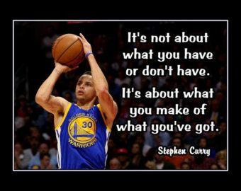 Stephen Curry Basketball Motivation Wall Art Golden by ArleyArt