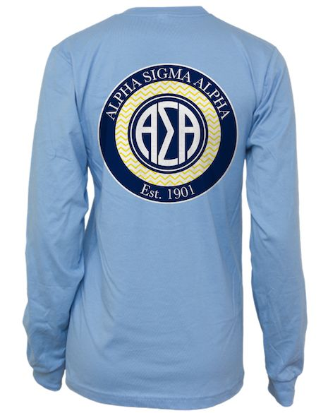 alpha sigma alpha longsleeve by adam block design custom greek apparel sorority clothes