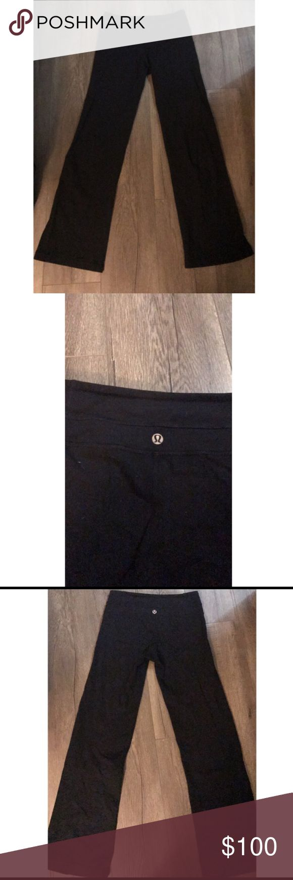 Boot cut lululemon leggings FLASH SALE Black bootcut lululemon leggings size 2. These are so comfortable and cute. Only willing to trade for another pair of black bootcut lulus. I can't find any bootcut black lulus online so that's the only reason I'm listing these lululemon athletica Pants Leggings