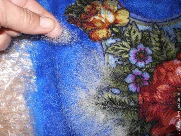 Мастер-класс по работе с павловопосадскими платками в технике мокрого валяния - Ярмарка Мастеров - ручная работа, handmade