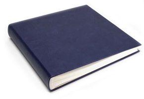 Blue Vintage Leather Large Square Album