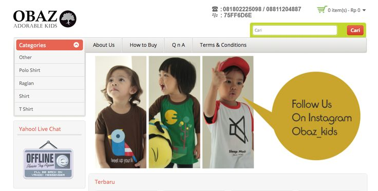 obazkids.com cheap original made in Indonesia kids distro