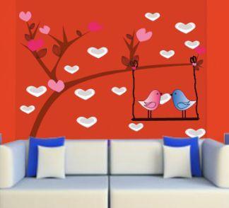 Πουλιά σε κούνια, αυτοκόλλητο τοίχου  ,19,90 €,https://www.stickit.gr/index.php?id_product=725&controller=product