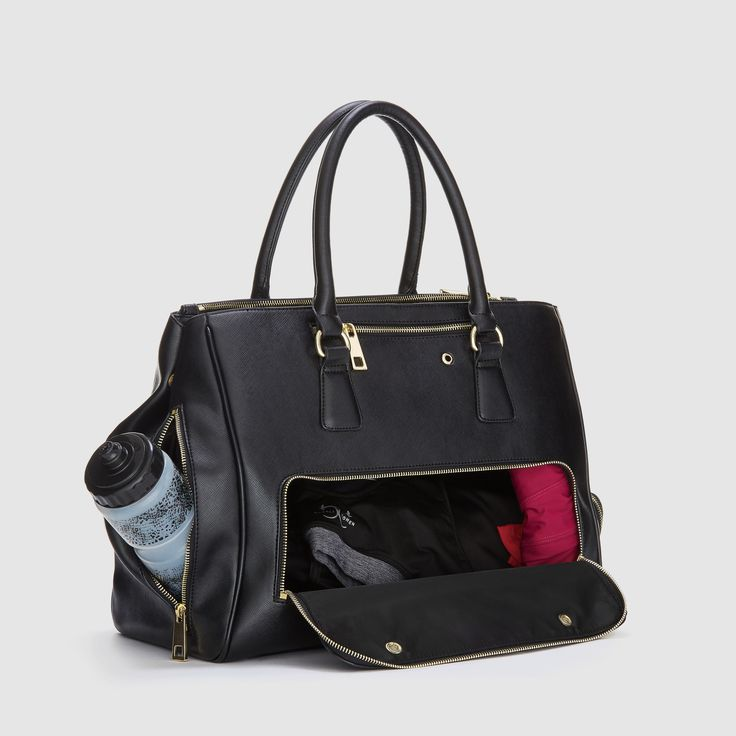 Sophia Tote Black.. office to gym/ commuting bag.... need this.