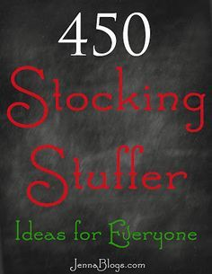 Jenna's Journey: 450 Stocking Stuffer Ideas!