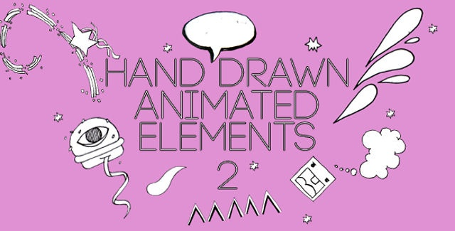 The elements are a hand drawn and a true labor of motion graphic love. The project is easily customizable and simple to drop into any project, with a number of elements that you can modify according to your need and liking.Main features:• A number of hand-drawn elements that can be dropped into any project• No 3rd party plugins• Original content• Each quicktime MOV is exactly one animation cycle per animation to reduce file size and download time.• Includes CS3 After Effects file of preview…