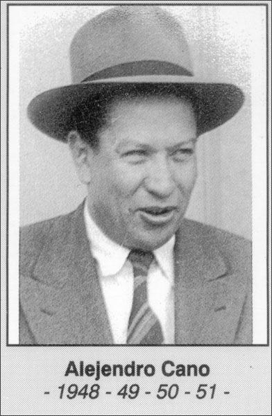 Alejandro Cano 1948- 1949- 1950- 1951