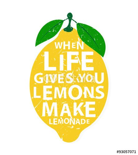 "Download the royalty-free vector ""When life gives you lemons, make lemonade…"