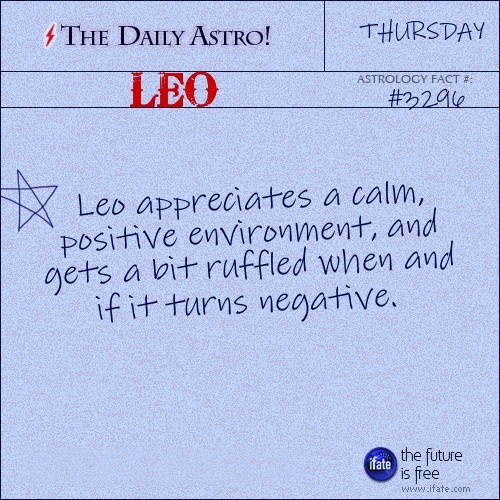 Daily Leo Astrology Fact: You can get a great free tarot reading online right now.  Visit iFate.com today!