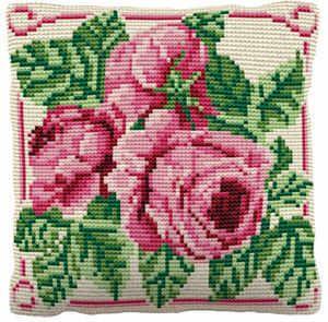 English Rose -  Cross Stitch Kit (printed canvas)