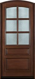 Mahogany Solid Wood Entry Door - Single