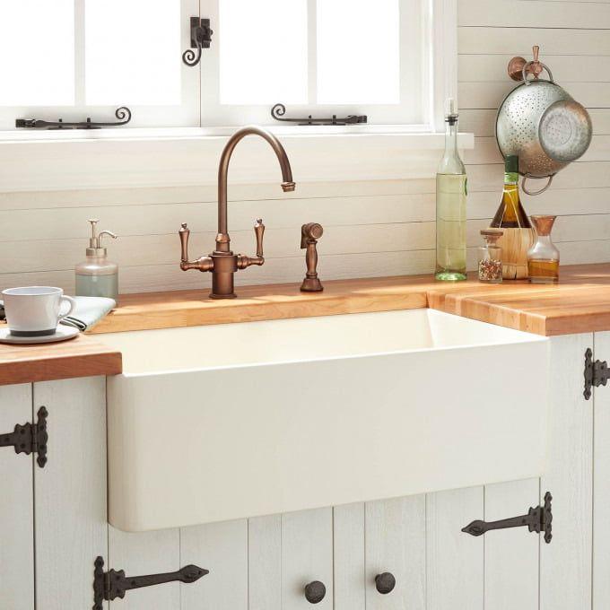 30 Reinhard Fireclay Farmhouse Sink Biscuit Kitchen Remodel