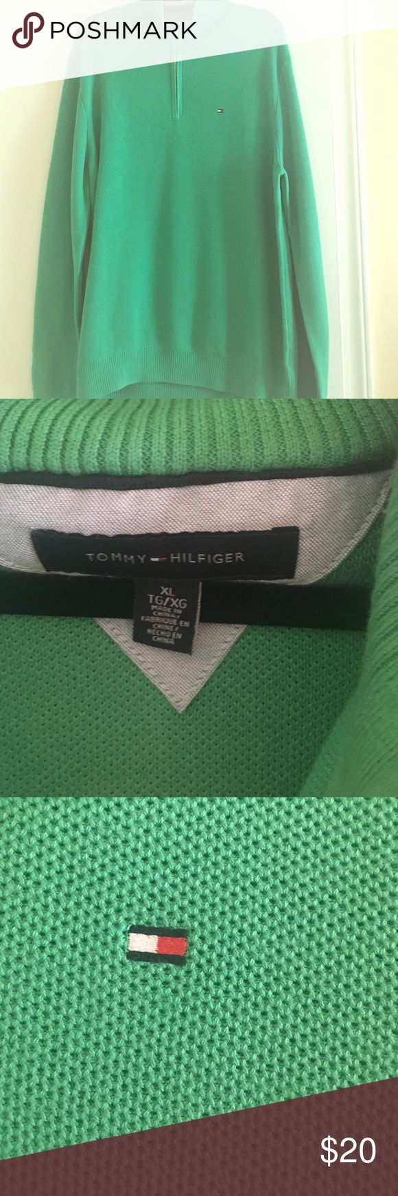 Men's Tommy Hilfiger Half Zip Pullover Sweater Preowned. Great Condition Tommy Hilfiger Sweaters