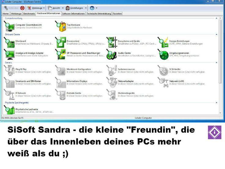 Mit SiSoft Sandra light immer wissen, was unter der Haube des eigenen PCs steckt.