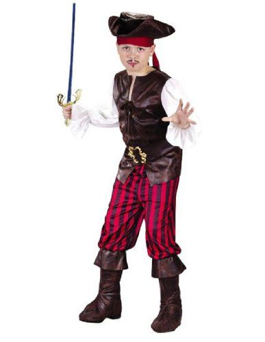Pirate Dress up costume Includes: Top pants belt bandana hat boot tops.