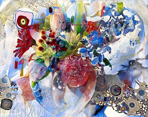 Maryann Hendriks, 'I Play my Music in the Sun', 24'' x 30'' | Galerie d'art - Au P'tit Bonheur - Art Gallery