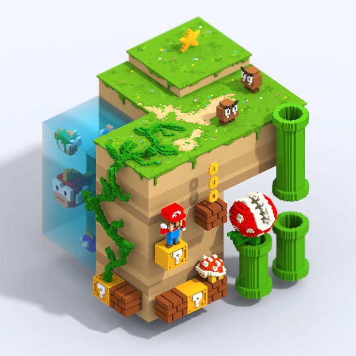 Mario Bros Land on Behance