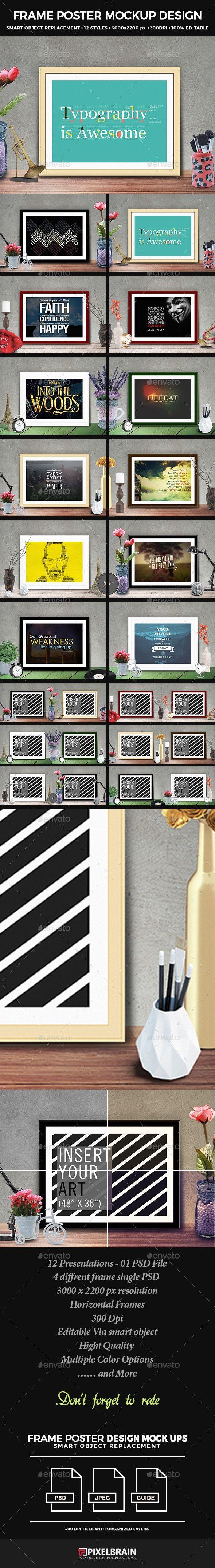 Frame Poster Mockup Design Vol 2 Ad Poster Spon Frame Mockup Vol Mockup Design Poster Mockup Poster Frame Poster template 36 x 48
