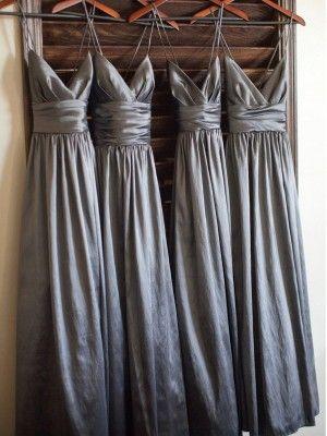 A-Line/Princess Spaghetti Straps Sleeveless Floor-Length Taffeta Bridesmaid Dresses