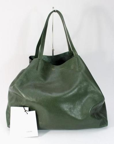 Simple and chic Celine hunter green leather tote. Visit our eBay store to see this and other amazing deals on high end handbags!