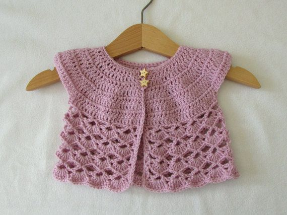 Crochet Lace Baby Cardigan .. Link Is To Etsy But Free