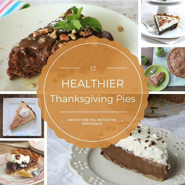 Thanksgiving Pies made a little healthier! All Sugar-Free, Some grain free and low carb!