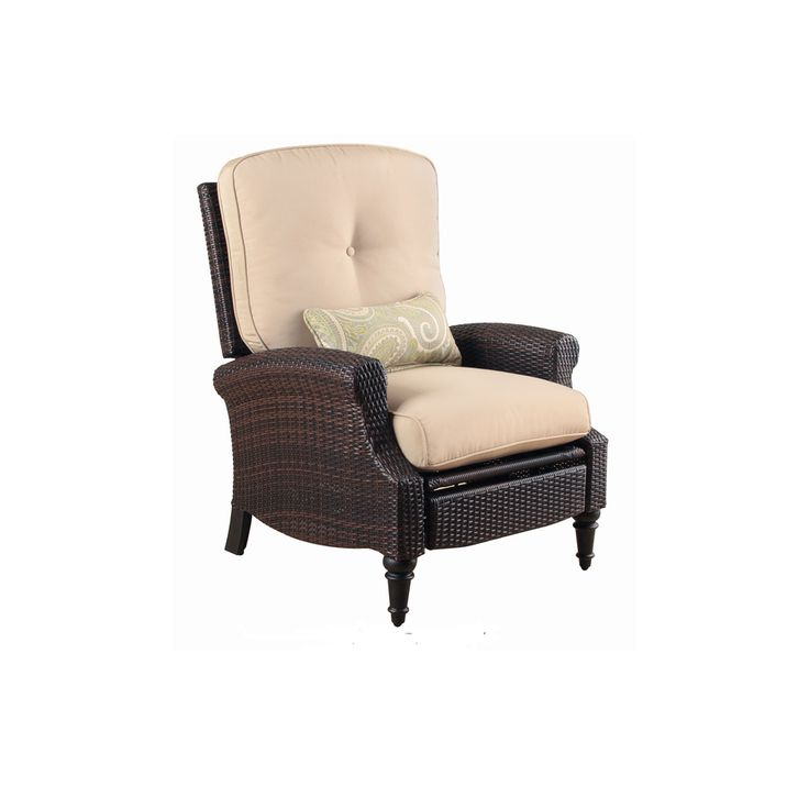 Shop Foremost Casual Holbert Golden Black Wicker All Weather Wicker  Cushioned Patio Recliner At Lowes