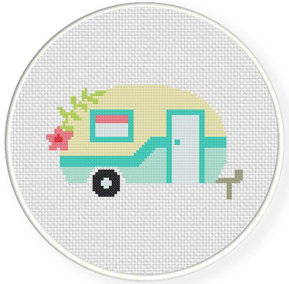 Cute Camper Cross Stitch Pattern