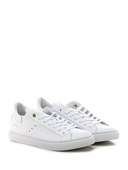 WOMSH - Sneakers - Uomo - Sneaker in pelle con suola in gomma, tacco 25. - WHITE - € 155.00