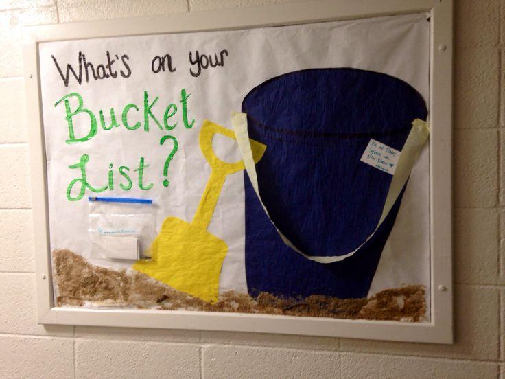 Summer RA Bulletin board--bucket list