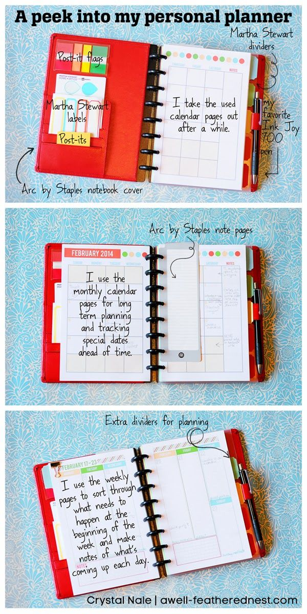 A Well Feathered Nest: What's Inside My Personal Planner