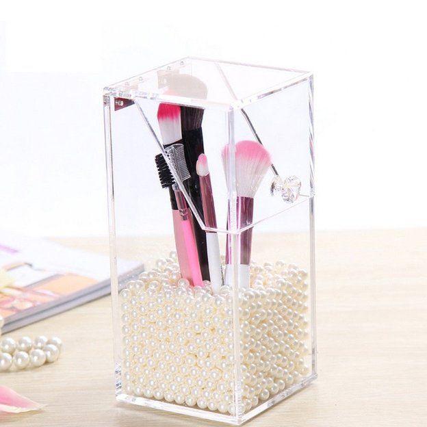 Make Up Pinsel Organizer mit Perlen
