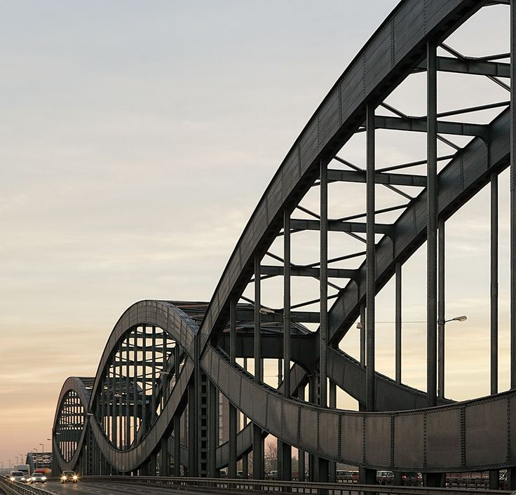 Bridge Elba River Neue Elbbrücke, architechture, fabulous, view, curves, photography