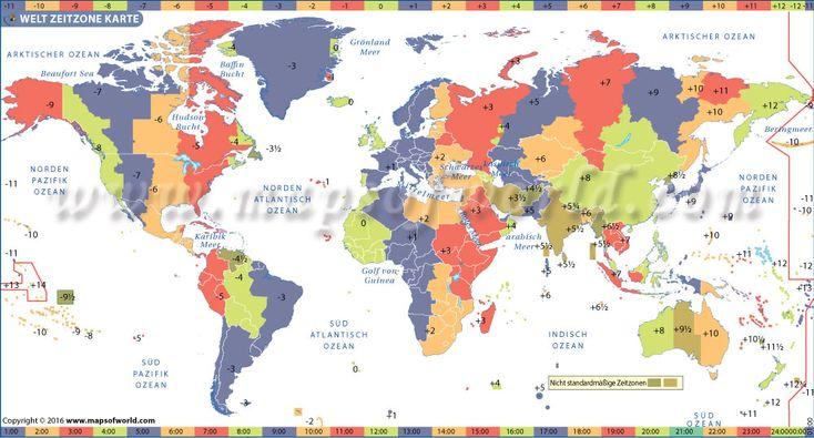 Zeitzonen Weltkarte