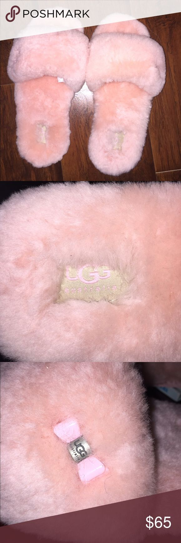 Pink UGG Slippers This are the most comfortable pair of slippers EVER!  I already have a pair!  If you like pink, you will love these!!  Never been worn.  Excellent Condition! UGG Shoes Slippers