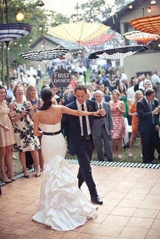 21 DIY Outdoor & Hanging Decor Ideas | Confetti Daydreams - DIY Hanging Umbrella Decor for wedding dancefloor magic ♥ #DIY #OutdoorDecor #HangingDecor