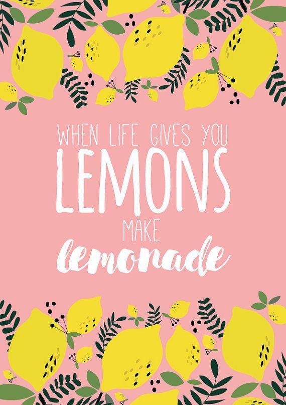 When life gives you lemons make lemonade Illustration to be downloaded Instant…