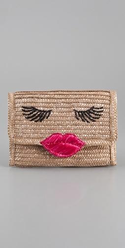 Felix Rey Kissy Face Basket Clutch