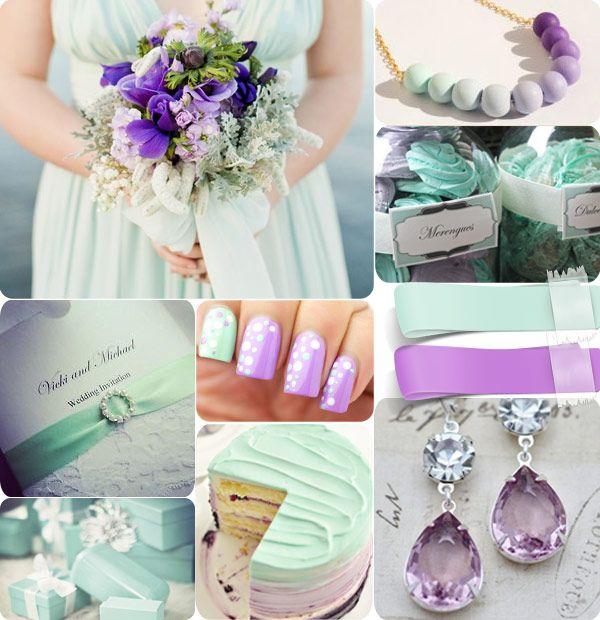 31 best Mint & purple wedding images on Pinterest   Weddings ...
