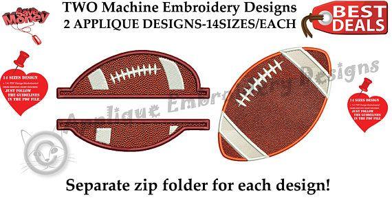 Football Embroidery Applique Design-American Football