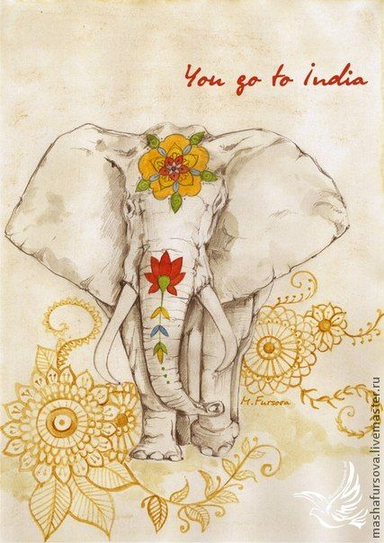 ☮ American Hippie Psychedelic Art ~ Elephant .. India