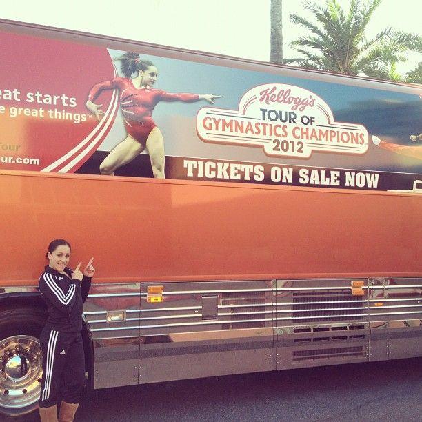 Jordyn Wieber @jordyn_wieber  --    Loading up the tour buses this morning!!  --  Photo by jordyn_wieber • Instagram