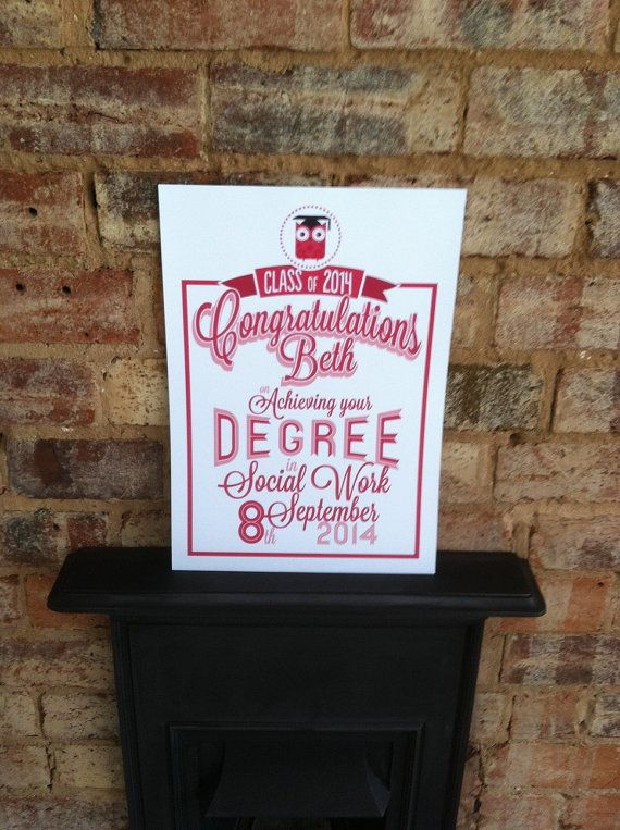 Personalised Graduation Gift   A3 Print by mammothcreativeworks
