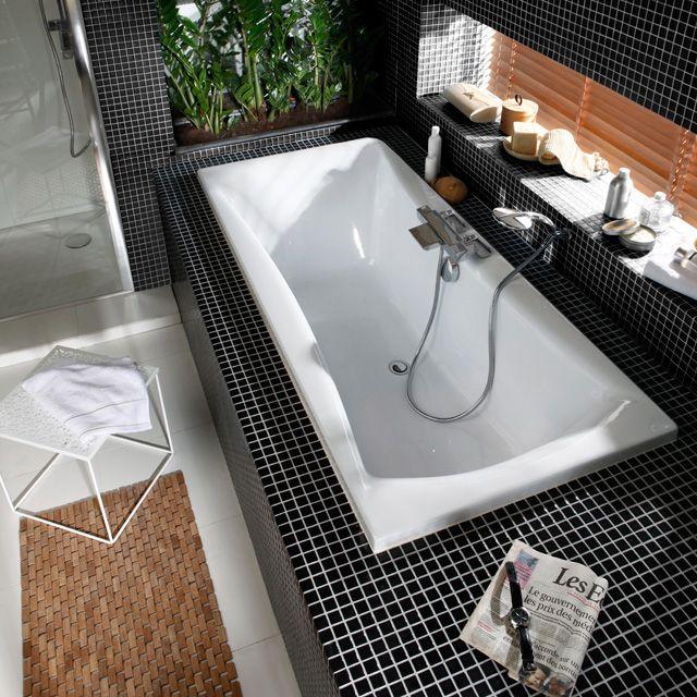 baignoire kleopatra 170 x 75 cm castorama id maison. Black Bedroom Furniture Sets. Home Design Ideas