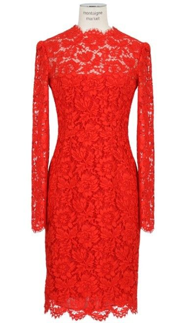 Valentino Red Lace Dress